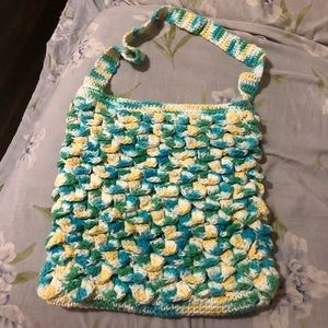 Handbags - Crocheted multicolored purse